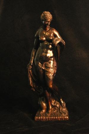 Venus holding a Lobster