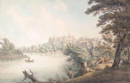 Windsor Castle from the River, 1800.