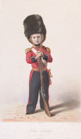 Prince Arthur, Duke of Connaught and Strathearn KG, KT (1850-1942) aged 3 in the Uniform of an ...