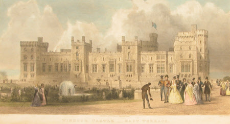 East Terrace, the Queen's Private Apartments, Windsor Castle (after Thomas Allom)