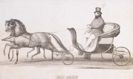 King George IV (1762-1830) driving in Brighton (after John Dickinson)