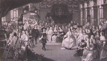 King Charles II and Elizabeth, Princess Palatine, his Cousin, Dancing at the Hague (after George ...