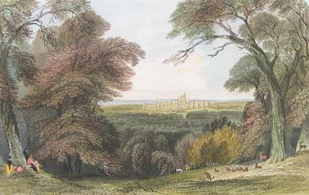 Windsor Castle from Bishopsgate (after Thomas Allom)