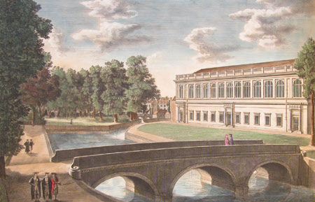 A View of Trinity College Bridge and Library, and Part of St
