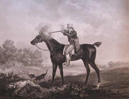 Horseman Shooting with Two Pointers (after Carle Vernet)