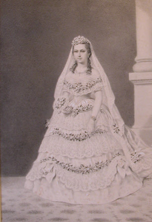 Alexandra, Princess of Wales later Queen Alexandra (1844-1925) in her Bridal Dress