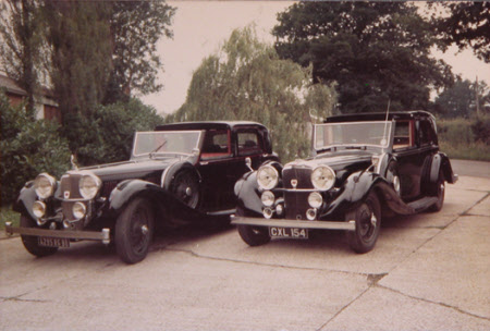 2 Rolls Royce Phantom classic cars, belonging to Huttleston Rogers Broughton, 1st Lord Fairhaven ...