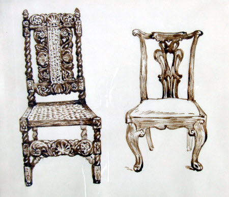 Two Chairs at Melford Hall, Suffolk