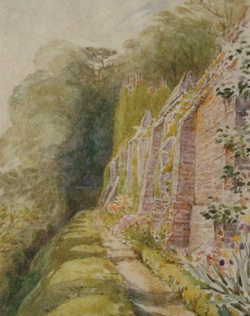 The Octagon and Garden Wall at Melford Hall, Suffolk
