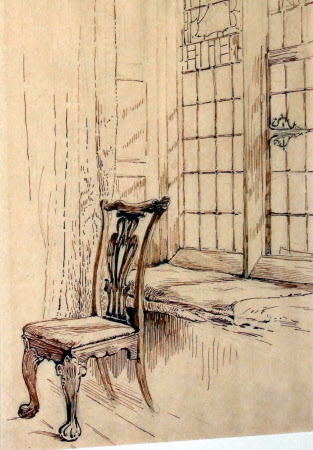Sketch of Chippendale Chair at Melford Hall