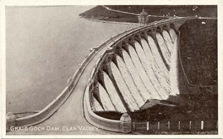 Craig Goch Dam, Elan Valley.