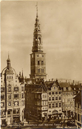 Amagertorv and the tower of the Church of St Nicholas, Copenhagen