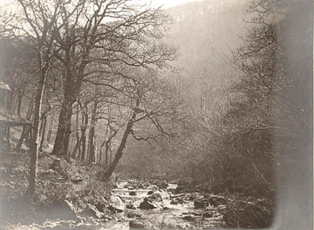 """Lynmouth, Watersmeet, April 15, 1911"" ."