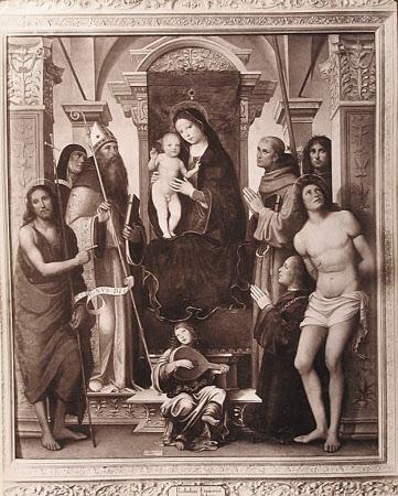 """Bologna Madonna con vari Santi (Fr. Francia) Pinac. Anderson"" ."