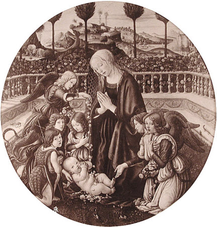 The Adoration of the Christ Child by Francesco Botticini, Pitti Palace, Florence