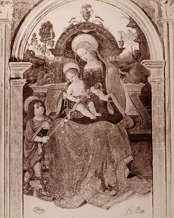Madonna and Child with St John, centre panel of the Santa Maria dei Fossi Altarpiece by ...