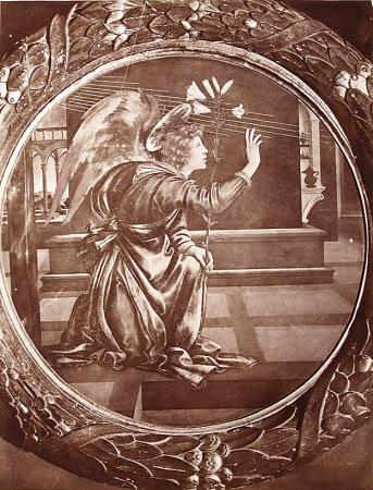 The Angel Gabriel of the Annunciation by Filippino Lippi, Palazzo Nuovo del de Podesta, San ...
