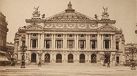 The exterior of the Paris Opera House