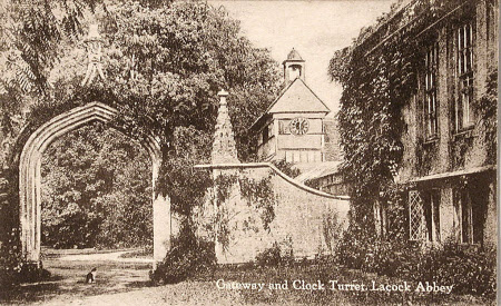 """Gateway and Clock Turret, Lacock Abbey"""