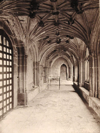 """Lacock Abbey, Interior of Cloisters"""