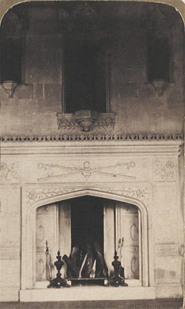 Chimneypiece, the Hall, Lacock Abbey, Wiltshire
