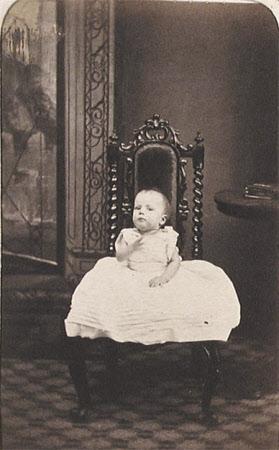 """April 1864, Edith Agnes Eleanor Bliss, Aged 7 months"""