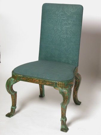 A chair - one of Erddig's 'gold stuff Chairs [and stools] wth green Japan frams' - circa 1720-26