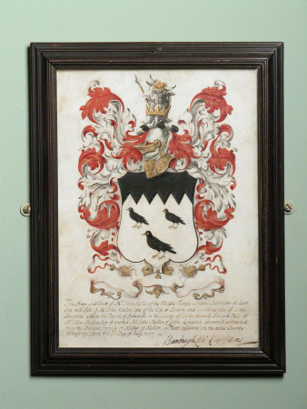 The Arms and Crest of Mr John Meller of the Middle Temple ...3rd July 1707
