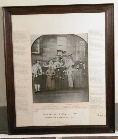 Group of Servants at Erddig, 1852 (on the steps on West Front)