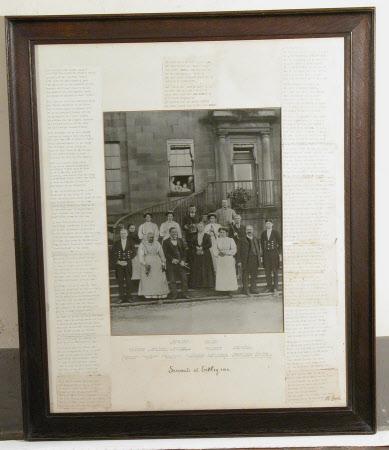 Servants at Erddig 1912 (on steps on W.Front)