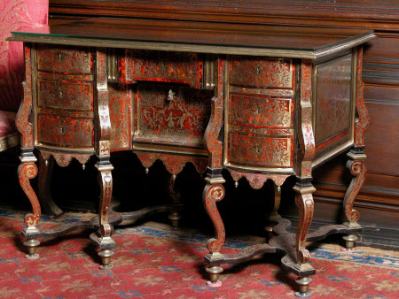 Erddig's Tortorshell Table inlayed with Brass, circa 1695