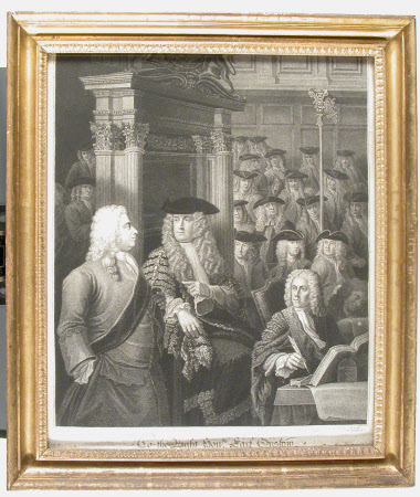 The House of Commons, in Speaker Onslow's time (after Sir James Thornhill and William Hogarth)