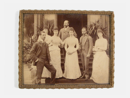 King Edward VII (1841-1910), Queen Alexandra (1844-1925) and their children, Prince Albert Victor, ...