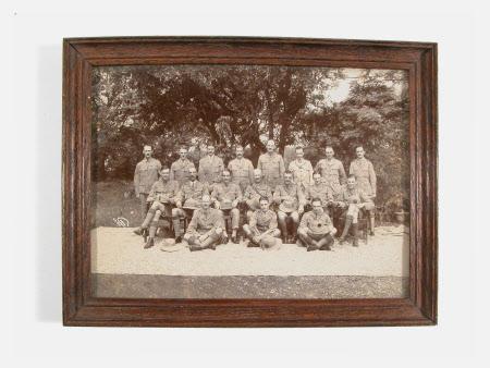 Regimental group photograph in safari dress