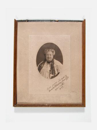 Portrait of an unidentified woman, (poss. Emma Florence Cunliffe)