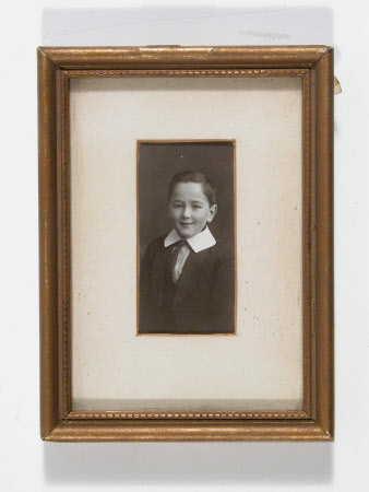 Portrait of unidentified young boy