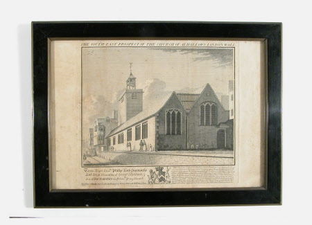 The South east prospect of the Church of All Hallows London Wall (after Robert West)