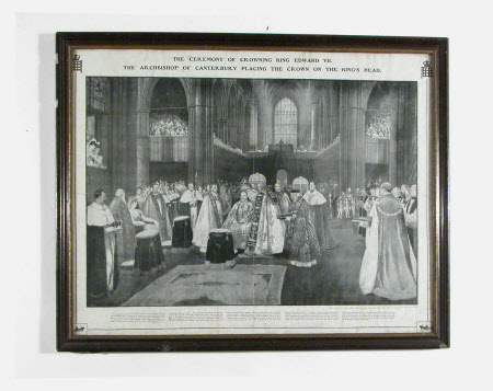 The Ceremony of Crowning King Edward VII (1841–1910) in Westminster Abbey