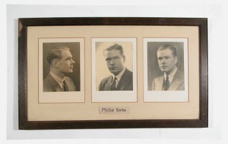 Three photographs in a frame: Philip Yorke III (1905-1978)