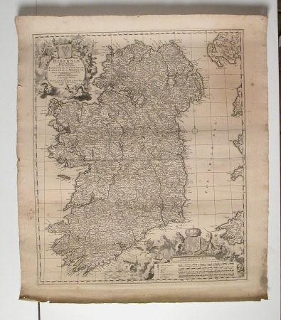 Map of Ireland (Hiberniae) c. 1695
