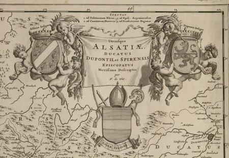 Map of Alsatiae