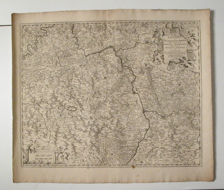 Map of the Rheinland with principle towns and landmarks - Map of the Electoratus et Palatinatus ...