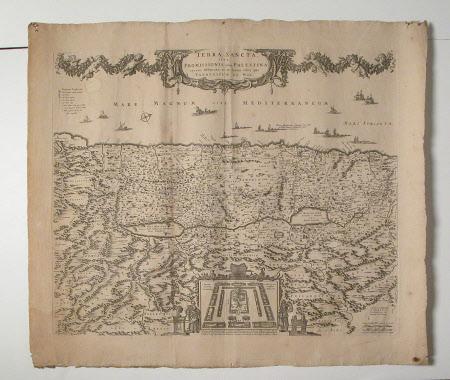 Map of the Holy Land Promissioris, olim Palestina