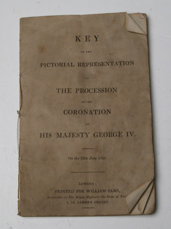 Key plan for 'The Coronation Procession of King George IV (1762-1830). On the 19th July, 1821