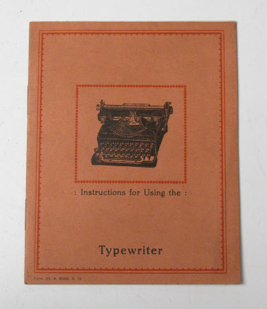 'Instructions for using the Typewriter'.