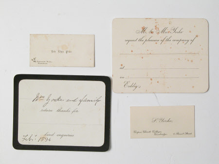 Visiting card collection