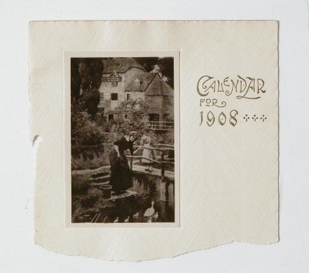 Calendar for 1908