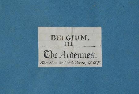 Belgium III The Ardennes 1892