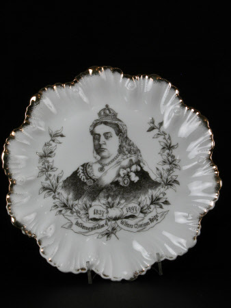Commemorative plate. Made for the Diamond Jubilee of Queen Victoria (1819-1901)