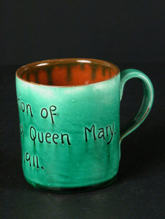 Barum pottery mug commemorating the coronation on 22 June 1911 of King George V (1865-1936) and ...